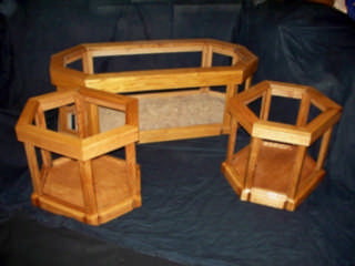 SOLID OAK''display''Coffee Table, End Tables
